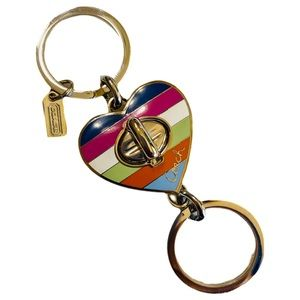 Coach NEW Keychain Valet Heart 2 in 1